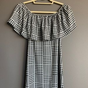 Cooperative Gingham Off the Shoulder Dress S/P